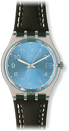 Armbanduhr swatch  Swatch Herren-Armbanduhr Blue Choco Analog Quarz GM415: Swatch ...