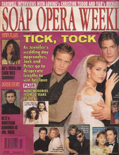Mark Valley, Melissa Reeves and Jason Brooks, Days of Our Lives, Rosalind Cash - November 21, 1995 Soap Opera Weekly Magazine