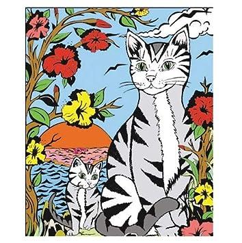 Colorvelvet 37 x 28 cm, diseño Egipcio Gato Sistema de Dibujo para Colorear (tamaño Mediano, Multicolor): Amazon.es: Juguetes y juegos