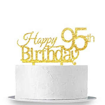 Amazon INNORU Happy 95th Birthday Cake Topper