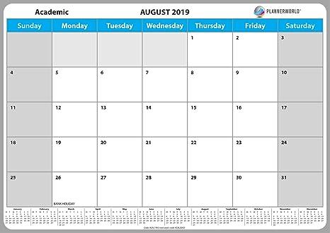 Unito Calendario Accademico.Plannerworld Calendario Accademico Da Parete Formato A3