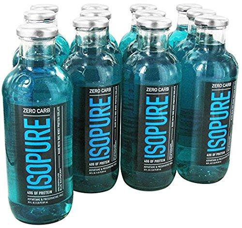 Natures Best Isopure - Isopure RTD Zero Carb Blue Ras, 12 drinks