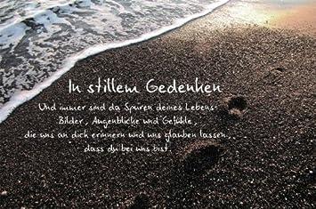 trauerspruch für karte Karte Trauer Spruch Spur im Sand, Liefermenge = 5: Amazon.de
