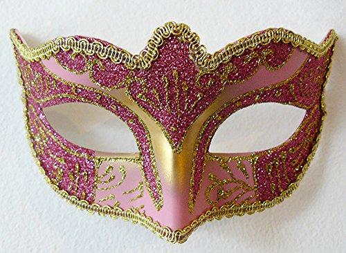 Pink Luxury Venetian Classic Masquerade Mask - Carnival Halloween Burlesque -