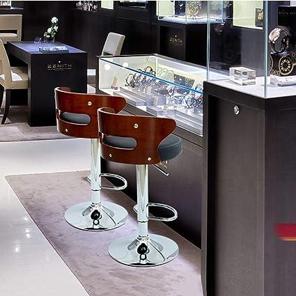 082ac187979cbf LRZZ Siège Chaise-Bar Chaise Noir Marron   Blanc 3-Level Pole Gas Bar Chaise  Simili-Cuir + Éponge Tabouret Tabouret en Bois Massif Tabouret Bar  Restaurant ...