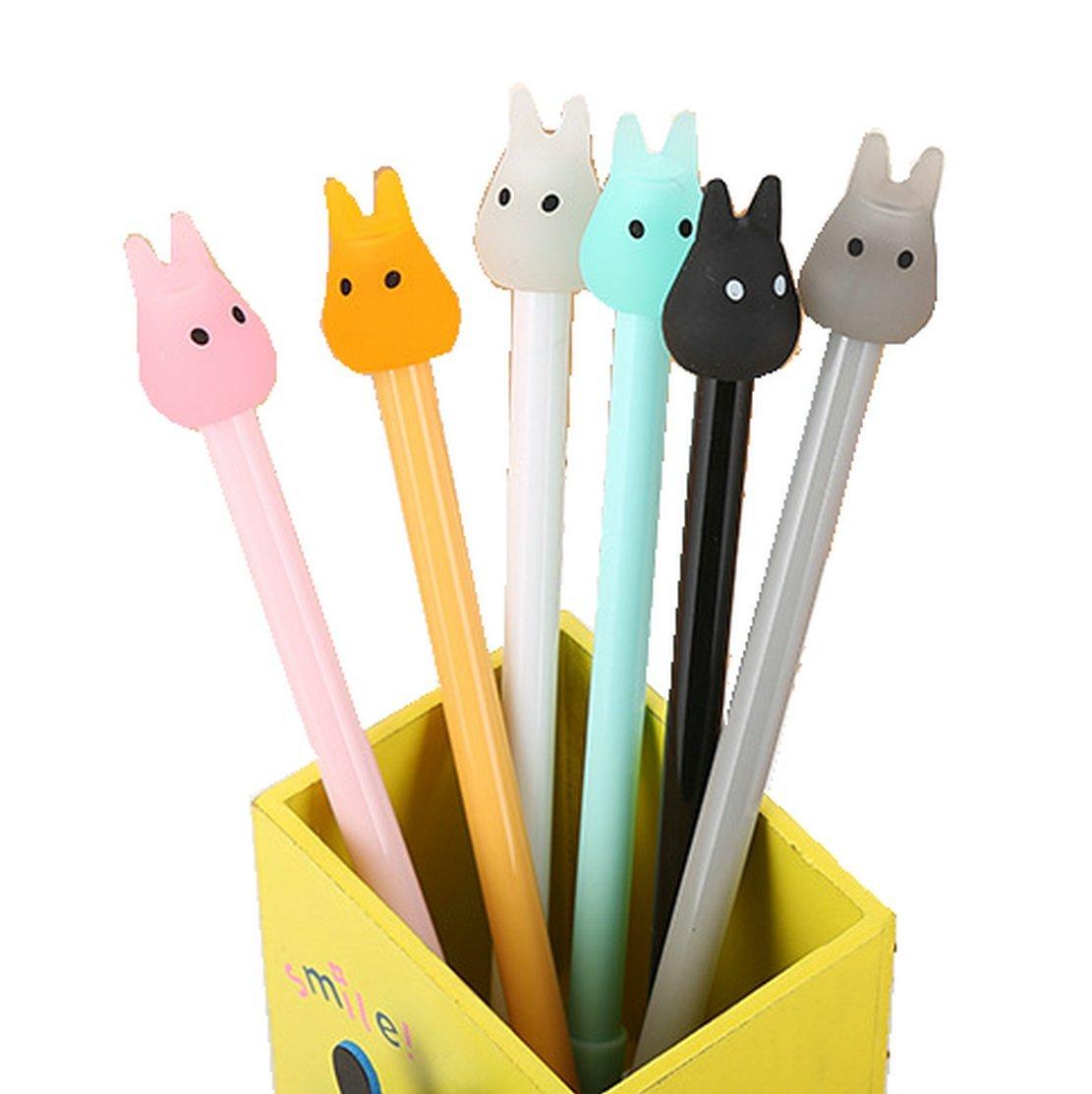 WIN-MARKET Fashion Cute Colorful Kawaii Lovely Cartoon Jelly color Totoro Gel Ball Pens Office School Supply Stationery(8PCS)