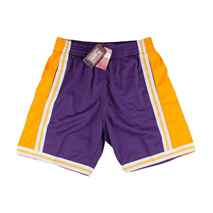 c0d9cbc0d Los Angeles Lakers NBA Mitchell   Ness Purple 1984-85 Hardwood Throwback  Soul Swingman Away