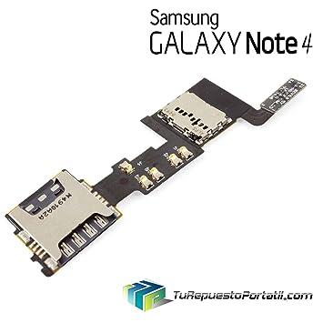 TRP Flex Lector Sim y Tarjeta Micro SD Samsung Galaxy Note 4 ...