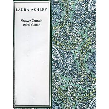 Laura Ashley Brentford Paisley Cotton Shower Curtain