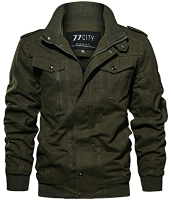 Chaud Fgyyg Simple Poche Fashion Mens Épaissir Multi Polaire Parker Montant Outdoor Veste Manteau Mode Hommes Hiver Coton Militaire Classique Col AL54Rj