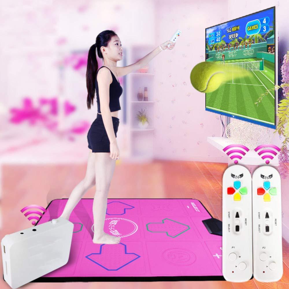 QXMEI Wireless Single Dance Mat TV Computer Dual-use Massage Slimming Dance Machine 9381CM,Pink by QXMEI (Image #1)