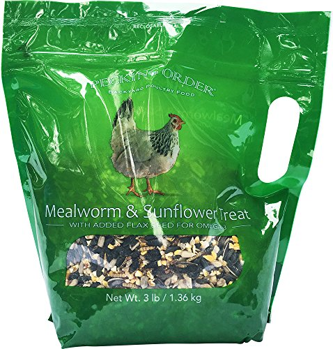 Pecking Order Mealworm & Sunflower Treat, 3 lb (Meals Poultry)