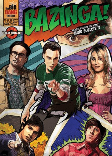 The Big Bang Theory Poster Bazinga  Comic  39 X55
