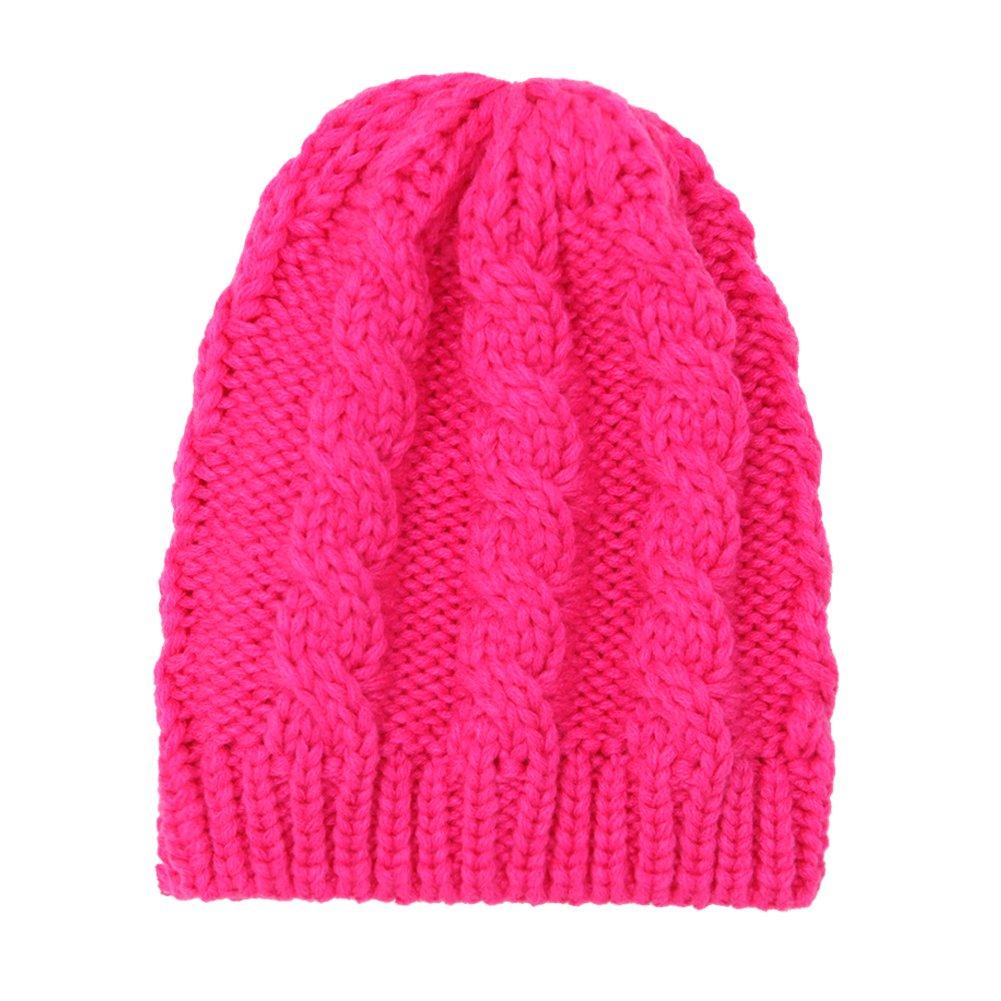 CHIC-CHIC Winter Newborn Infant Baby Boys Girls Knited Warm Beanie Hat Cap