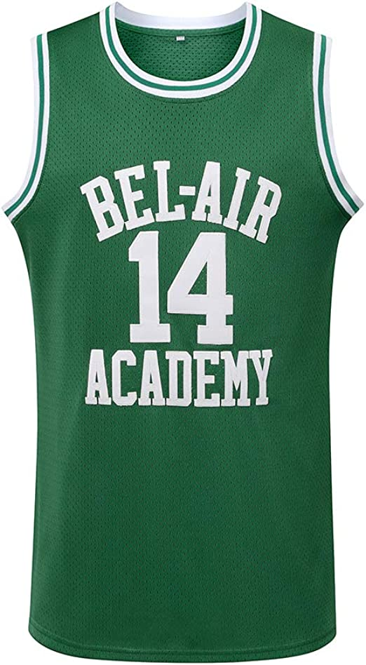 Mens The Fresh Prince of Bel-Air Smith 14 Academy Basketball Jersey Stitched