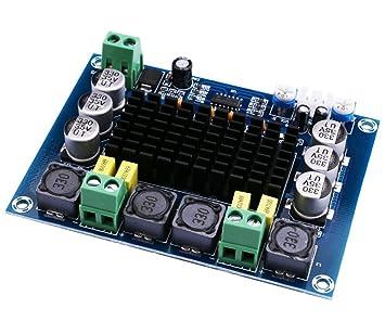 WINGONEER 120Wx2 TPA3116D2 Amplificador de potencia estéreo de audio digital DC12-26V AMP módulo PCB