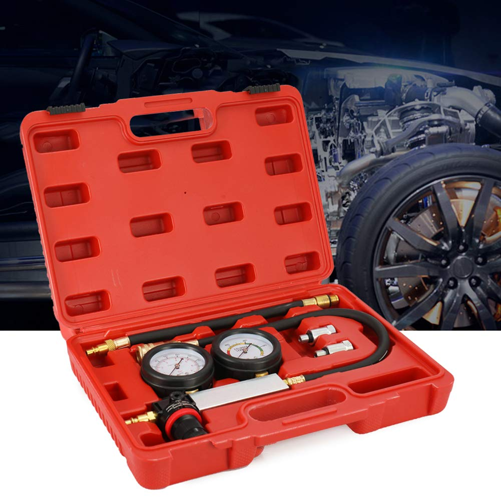 Shentesel Car Cylinder Leak Compression Leakage Detector Petrol Engine Tester with Box - Red by Shentesel
