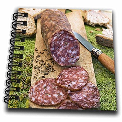 """Price comparison product image 3dRose db_137928_3 Cuisine, Finocchiona, Tuscan Salami, Florence, Italy Eu16 Nto0465 Nico Tondini Mini Notepad, 4"""" x 4"""""""