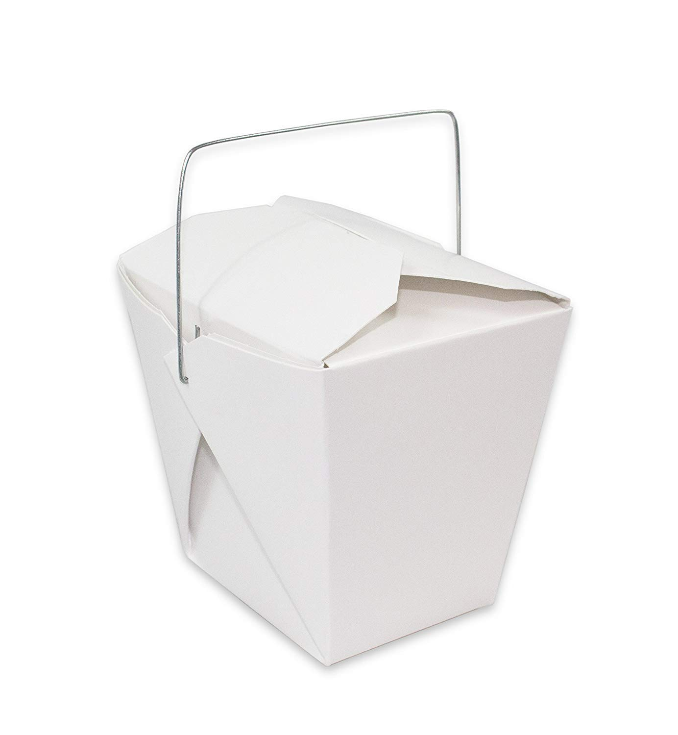Royal 7 8oz Chinese Take Out Food Boxes with Metal Wire Handle White (25)