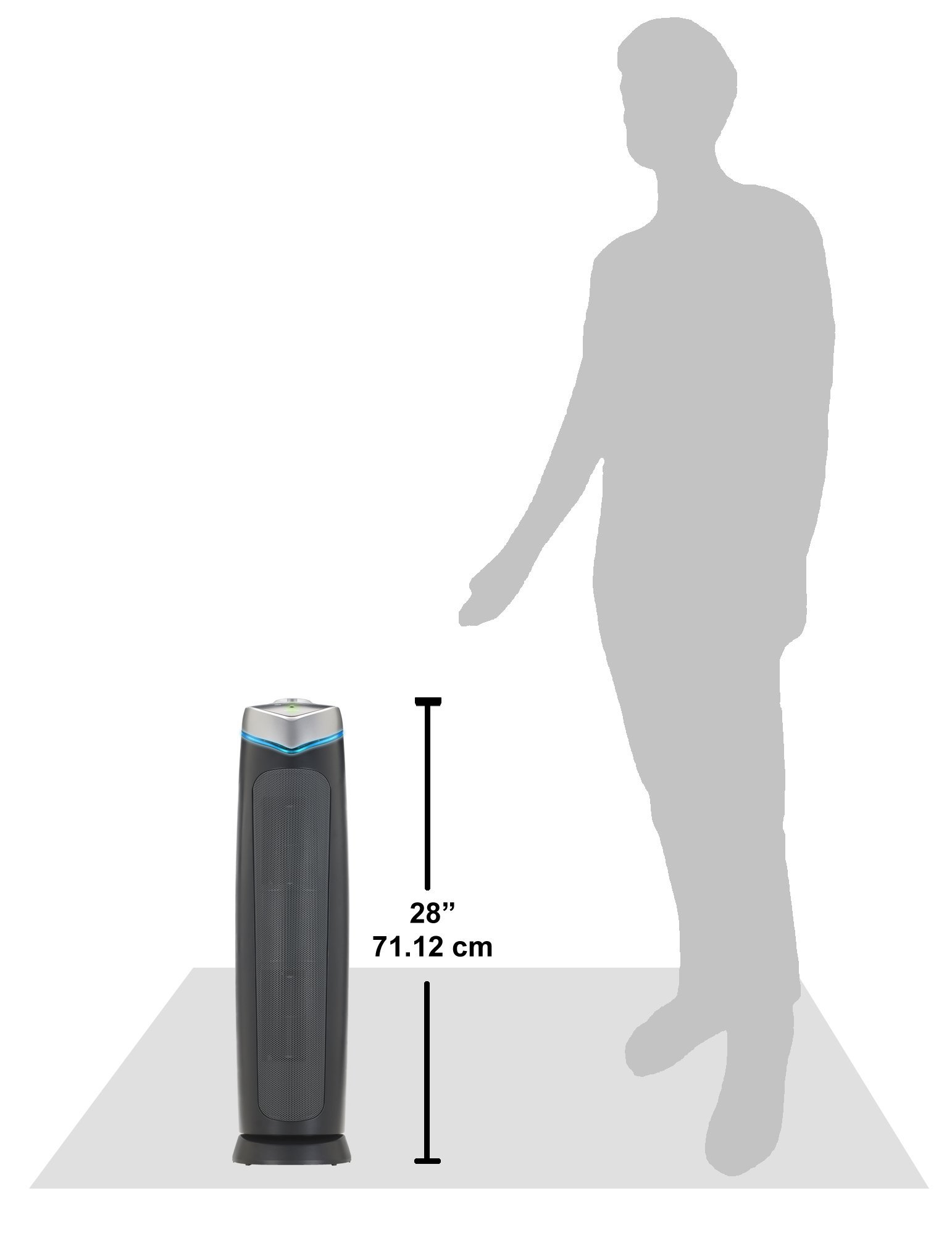 GermGuardian AC5000E 3-in-1 Air Purifier with True HEPA Filter, UV-C Sanitizer, Captures Allergens, Smoke, Odors, Mold, Dust, Germs, Pets, Smokers, 28-Inch Germ Guardian Air Purifier by Guardian Technologies (Image #9)