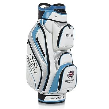 Stewart Golf staffpro Carro Bolsa, Color Blanc y Azul, tamaño Talla única: Amazon.es: Deportes y aire libre