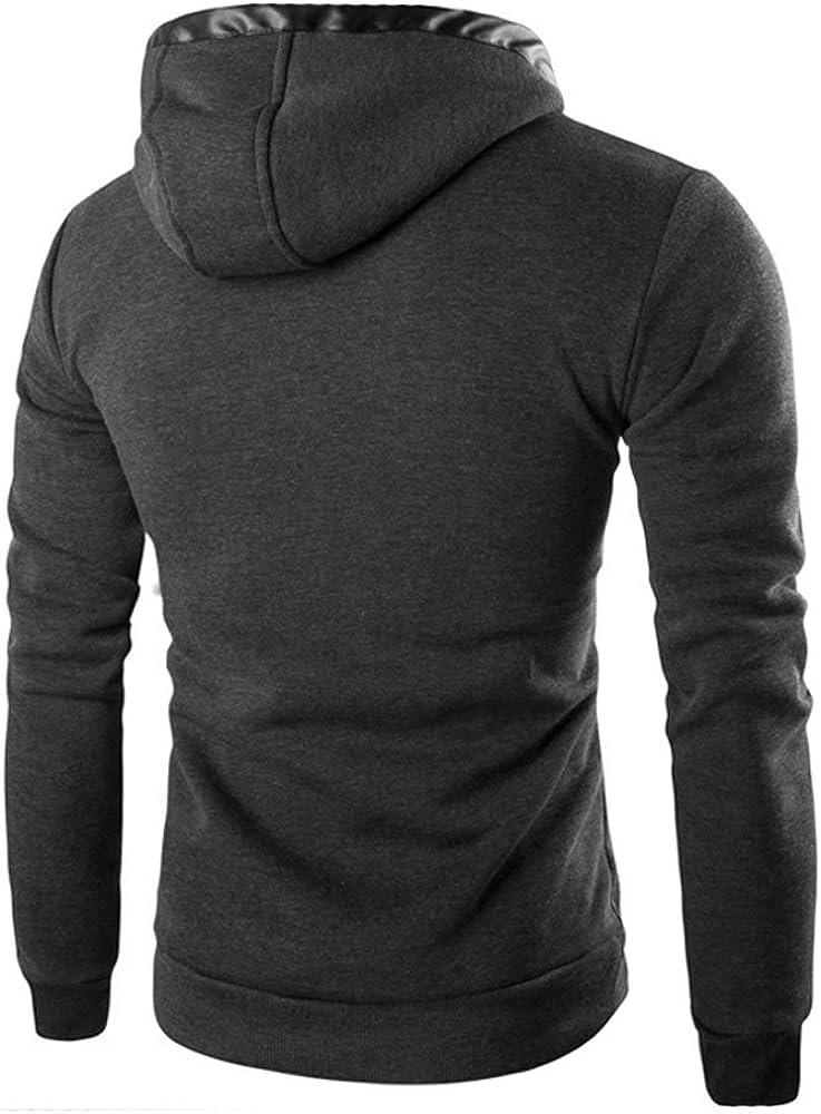 Jushye Mens Jacket Coat,Winter Warm Hoodies Slim Long Trench Zipper Buttons Outwear