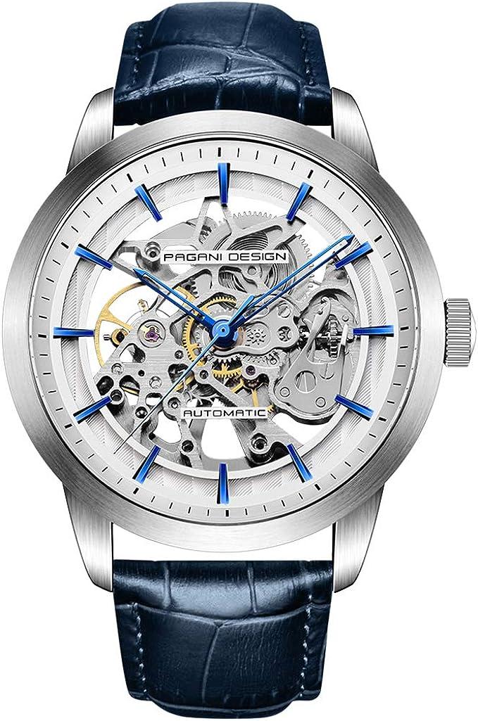Pagani Design Automatic Watch Mens Skeleton Mechanical Watches Self Winding Luxury Dress...