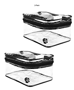 amazon 2 pack javoedge medium train case clear pvc vinyl Air Pillow Shipping Bags amazon 2 pack javoedge medium train case clear pvc vinyl multipurpose cosmetic makeup packing carry on bag beauty