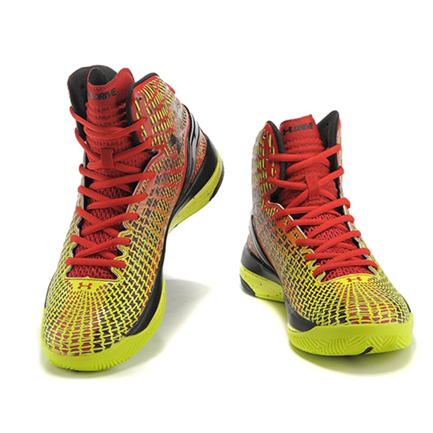 803a45a2b643 85%OFF Running Shoes Under Armour Curry 2 Boots Red and Yellow (3 ...