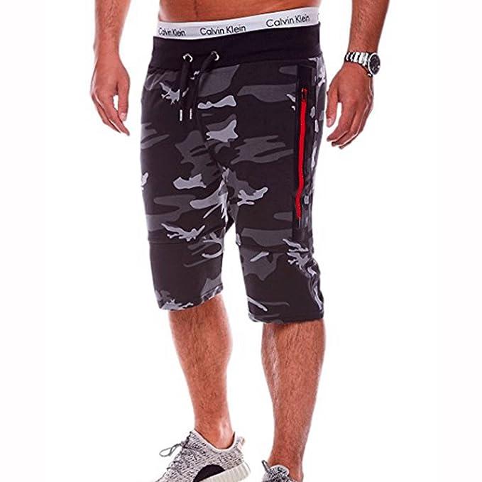 f52f470a2307 Sportshorts Herren Camouflage Kurze Trainingshose - Männer Fitnesshose  Freizeit Shorts Slim Fit Kurze Jogginghose Bequem Modern