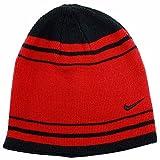 Nike Knit Skull Hat, Red Striped Boys 8/20