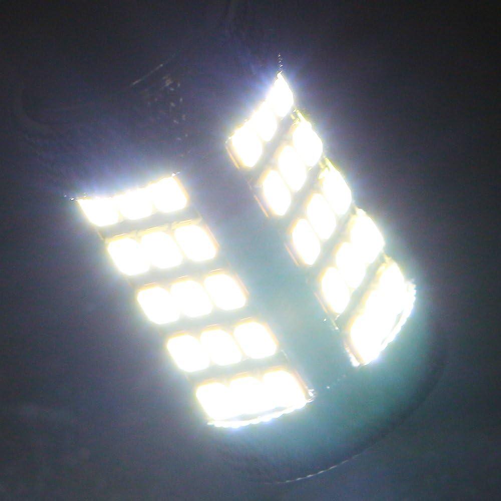 Pack of 2 Grandview 1260 Lumens Super Bright 1156 BA15S 7506 1141 1095 93 97 LED Bulbs 2835 63SMD Brake Turn Light Back Up Tail Lights DC 12V Blue