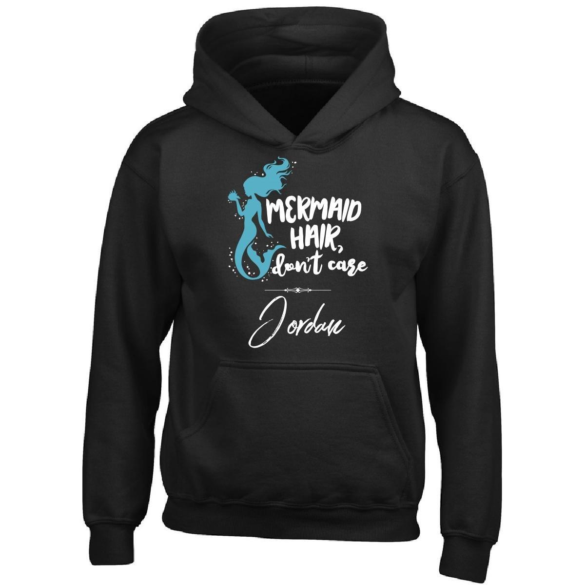 My Family Tee Mermaid Hair Don't Care Jordan Name Gift for Girls - Boy Boys Hoodie