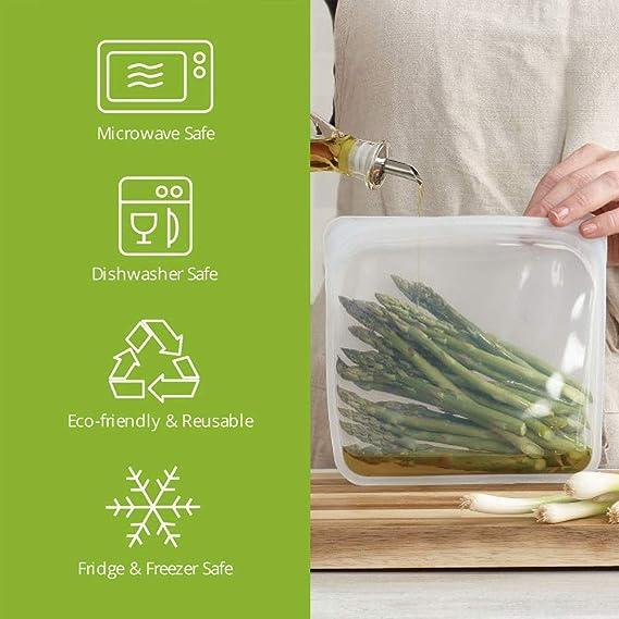 Amazon.com: Juego de sándwiches reutilizables de silicona ...