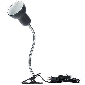 Hoke Flexible Clamp Lamp Fixture for Reptiles. Terrarium Habitat Lighting & Heat Lamp Holder Stand.