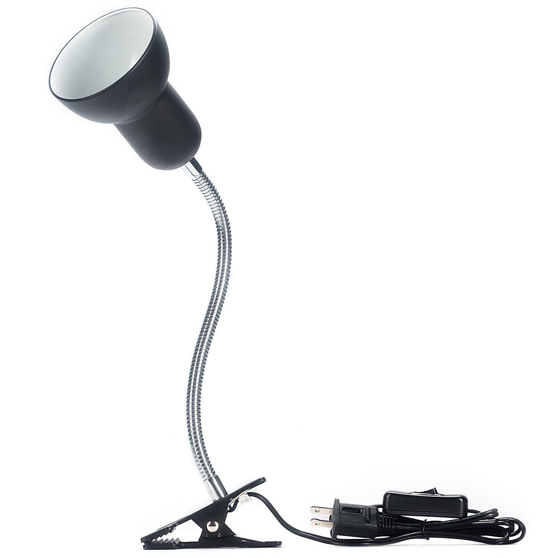 Hoke Flexible Clamp Lamp Fixture for Reptiles. Terrarium Habitat Lighting & Heat Lamp Holder Stand
