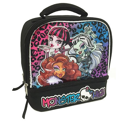 Monster High Dual Compartment Dome Lunch Bag