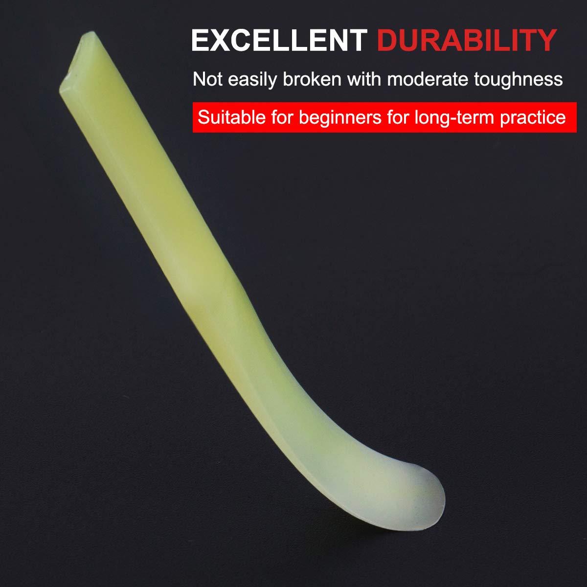Kmise Soprano Juego de 3 ca/ñas de saxof/ón para principiantes y estudiantes resina sint/ética color amarillo
