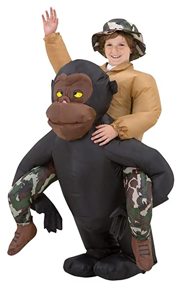 boys halloween costume riding gorilla kids inflatable