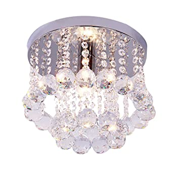 Lámpara de techo araña Cristal Montaje empotrado, E14 ...
