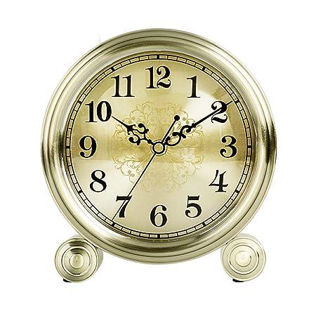Reloj de Mesa, Oro Del Metal Del Reloj De Tabla, Retro gor No ...