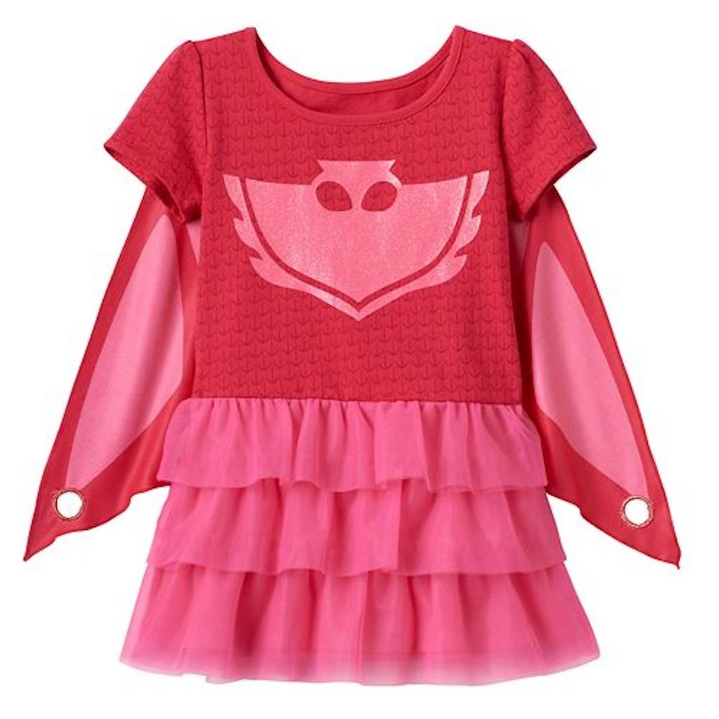 8622fc37 Galleon - Girls' PJ Masks Owlette T-Shirt Dress With Wing Cape (6)