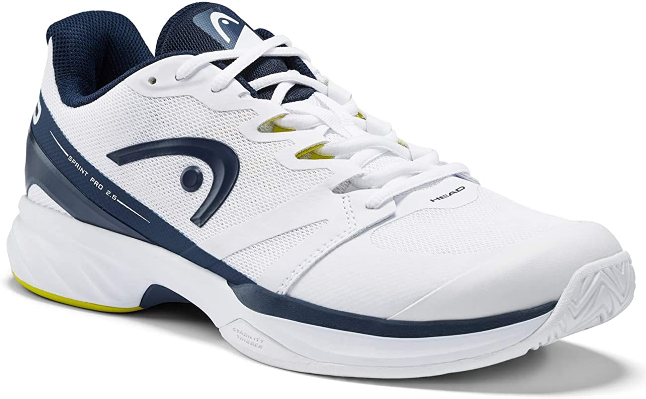 Head Sprint Pro 2.5 Men, Zapatillas de Tenis para Hombre, Blanco (White/Dark Blue Whdb), 45 EU