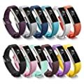 Newest Fitbit Alta HR and Alta Band With Metal Clasp, BeneStellar 12-Pack Silicone Replacement Band for Fitbit Alta HR and Alta (Classic)