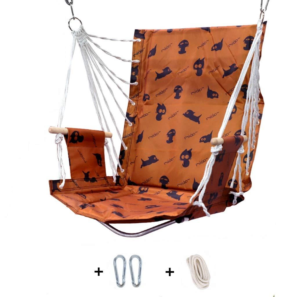 代引き手数料無料 正方形のレースのハムスターの椅子CATの手織りの綿ロープ、屋内屋外テラスのデッキの中庭の庭棒が付いている怠惰なかわいい子の揺りかごの振動椅子 (色 : C : B) B07R7T4XPS (色 C C, 三方郡:52658519 --- a-school-a-park.ca