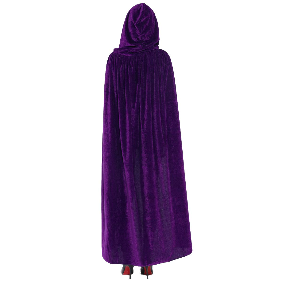 Cloak with Hood Costume Hooded Cape Crushed