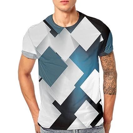 LuckyGirls Camisa Camisetas Originales Hombre Manga Cortos Verano Estampado de Bloques Splicing Deportivas Blusa Moda Polos