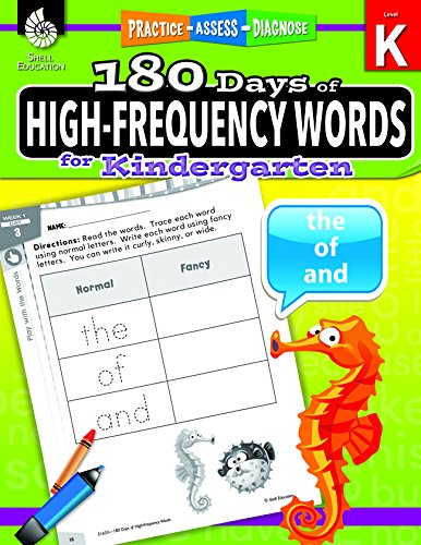 180 Days of High-Frequency Words for Kindergarten (180 Days of Practice) cover