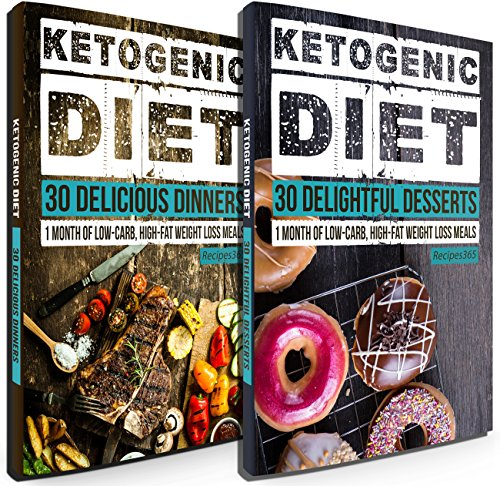 Keto Diet: 60 Divine Ketogenic Diet Recipes: 30 Days of Low Carb, High Fat Lunch & Dinner + FREE GIFT! (Ketogenic Cookbook, High Fat Low Carb, Keto Diet, Weight Loss, Epilepsy, Diabetes Book 1) by Recipes365 Cookbooks