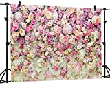 OUYIDA 7X5FT Flower Photo Backdrop Wedding Pictorial Cloth Photography Background Computer-Printed Vinyl Backdrop VDD014